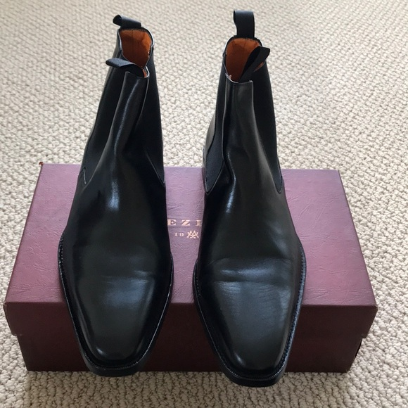 255e3adc685 Men's Mezlan black leather ankle boots. With box